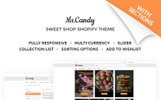 """Ms.Candy - Delicious Sweets & Candies Online Store"" thème Shopify adaptatif"