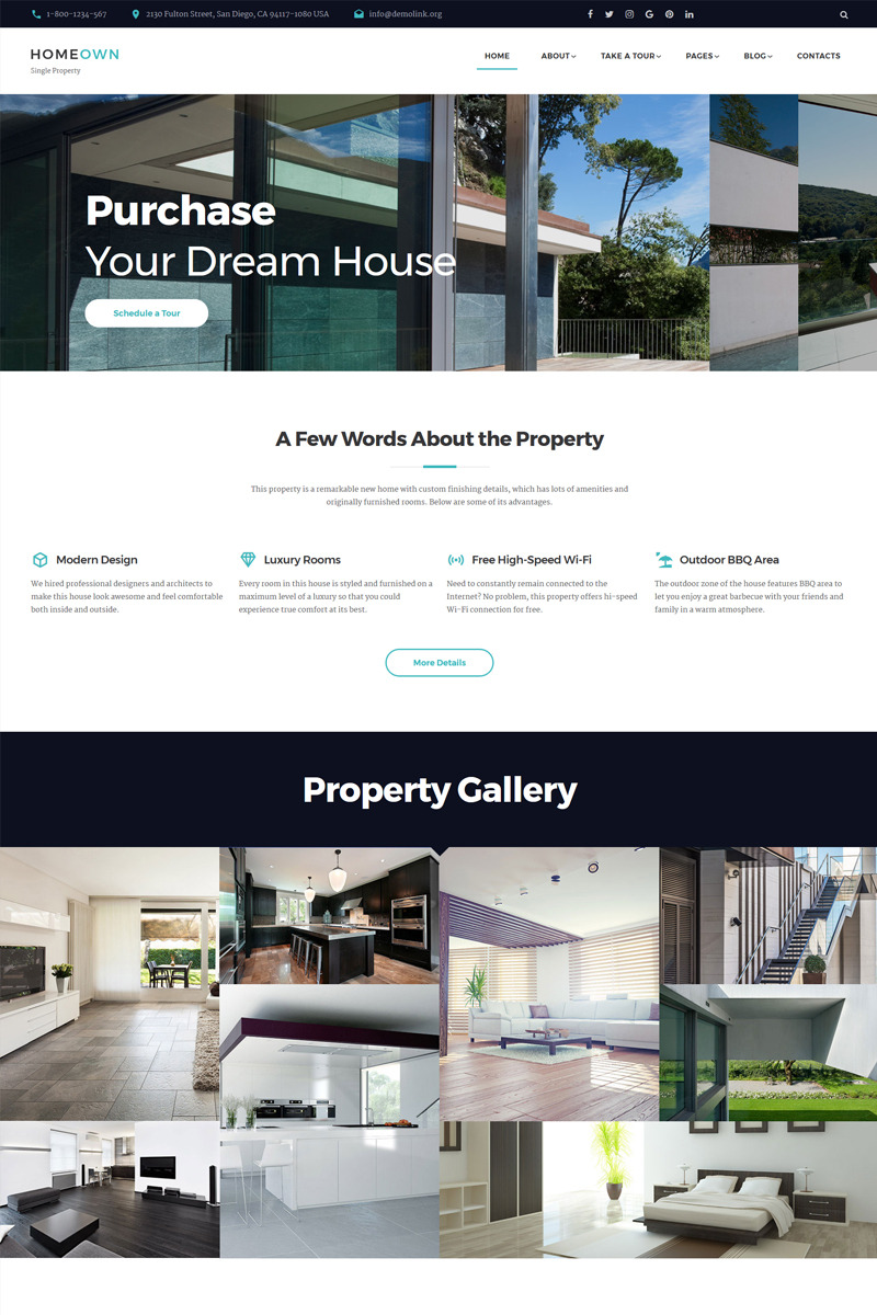 Charmant HOMEOWN   Luxury Single Property Selling Company Multipage HTML Website  Template Big Screenshot