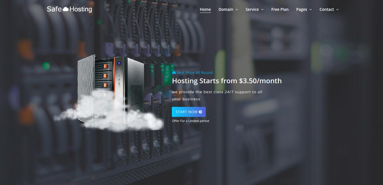 Safe Hosting - Multipage Website Template #67746