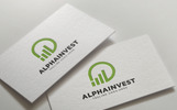 Alpha Invest Logo Template
