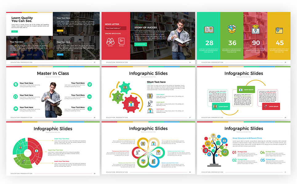 Education Presentation Powerpoint Template 67632