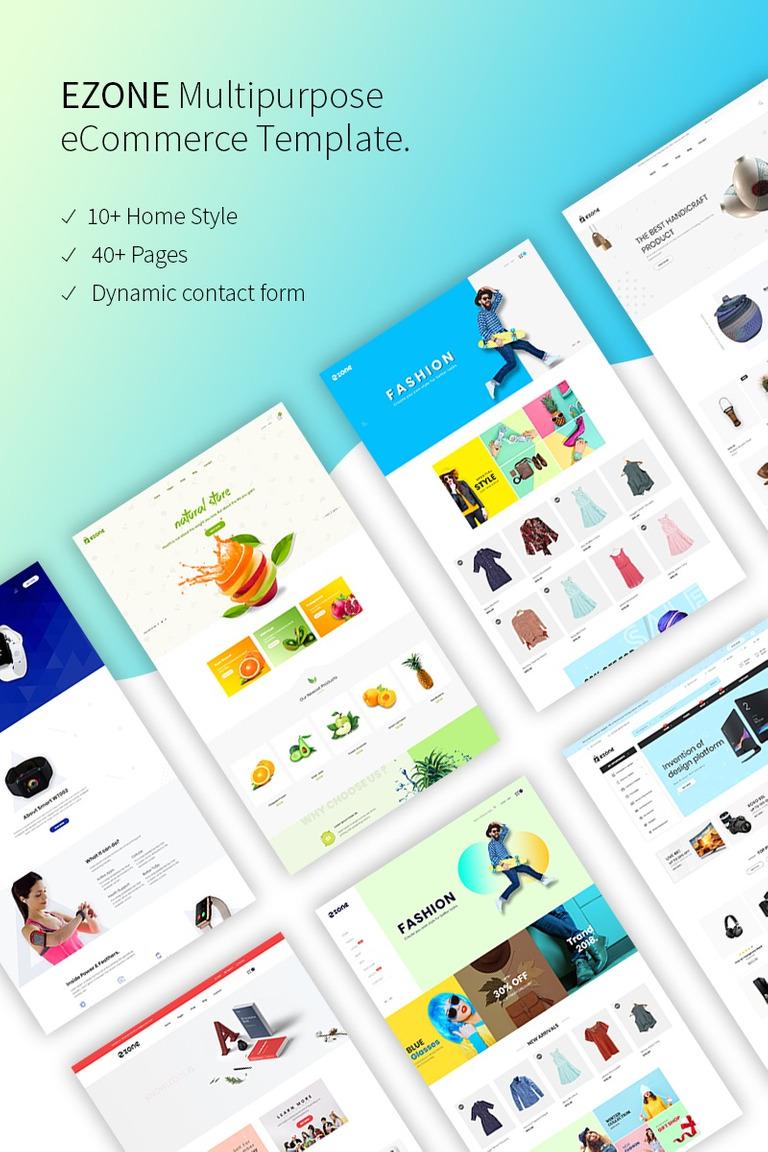 Website Vorlage #68335 für Mode-Shop