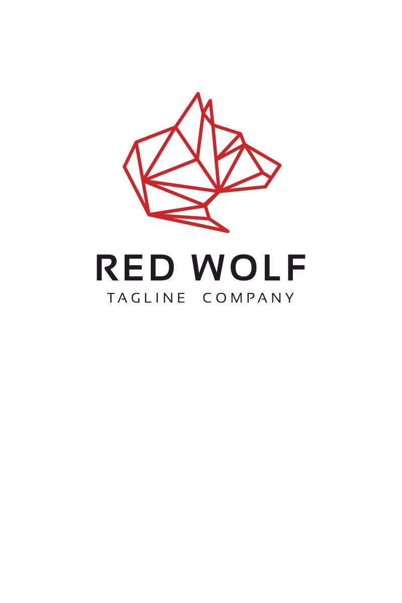 red wolf logo template  67781