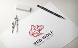 Red Wolf Logo Template