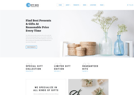 Gift Shop Multipage HTML5