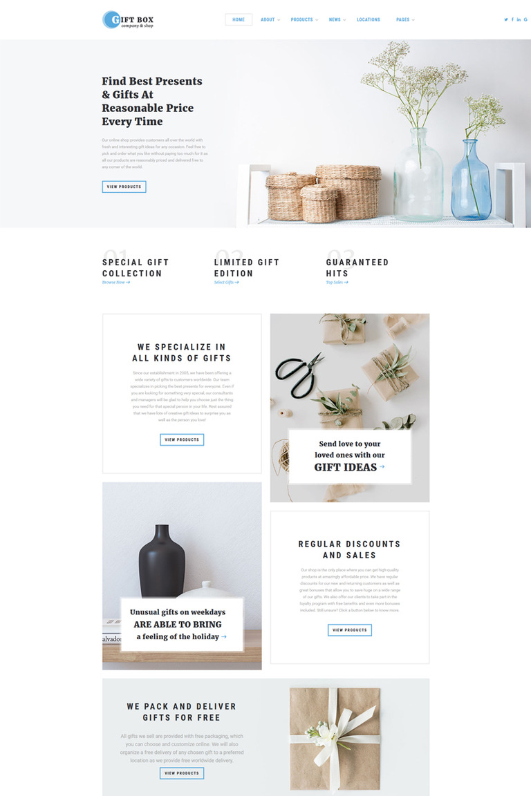 Gift Box Multipage Html5 Website Template Screenshot