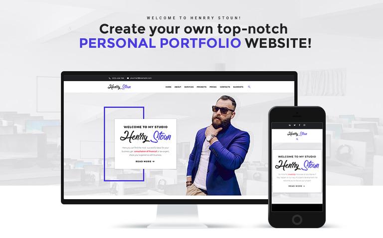 Tema de WordPress #67617 para Sitio de Páginas personales