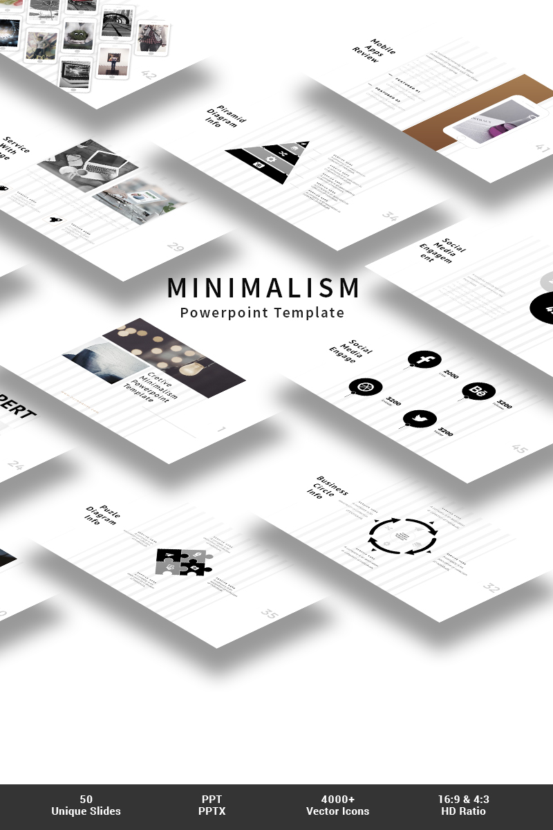 minimalism powerpoint template #64829, Presentation templates