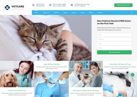 Vet Clinic Multipage HTML5