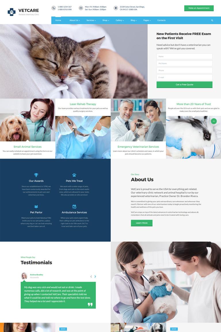 Website Vorlage #67627 für Hunde