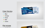 DJ Party Event Ticket Corporate Identity Template
