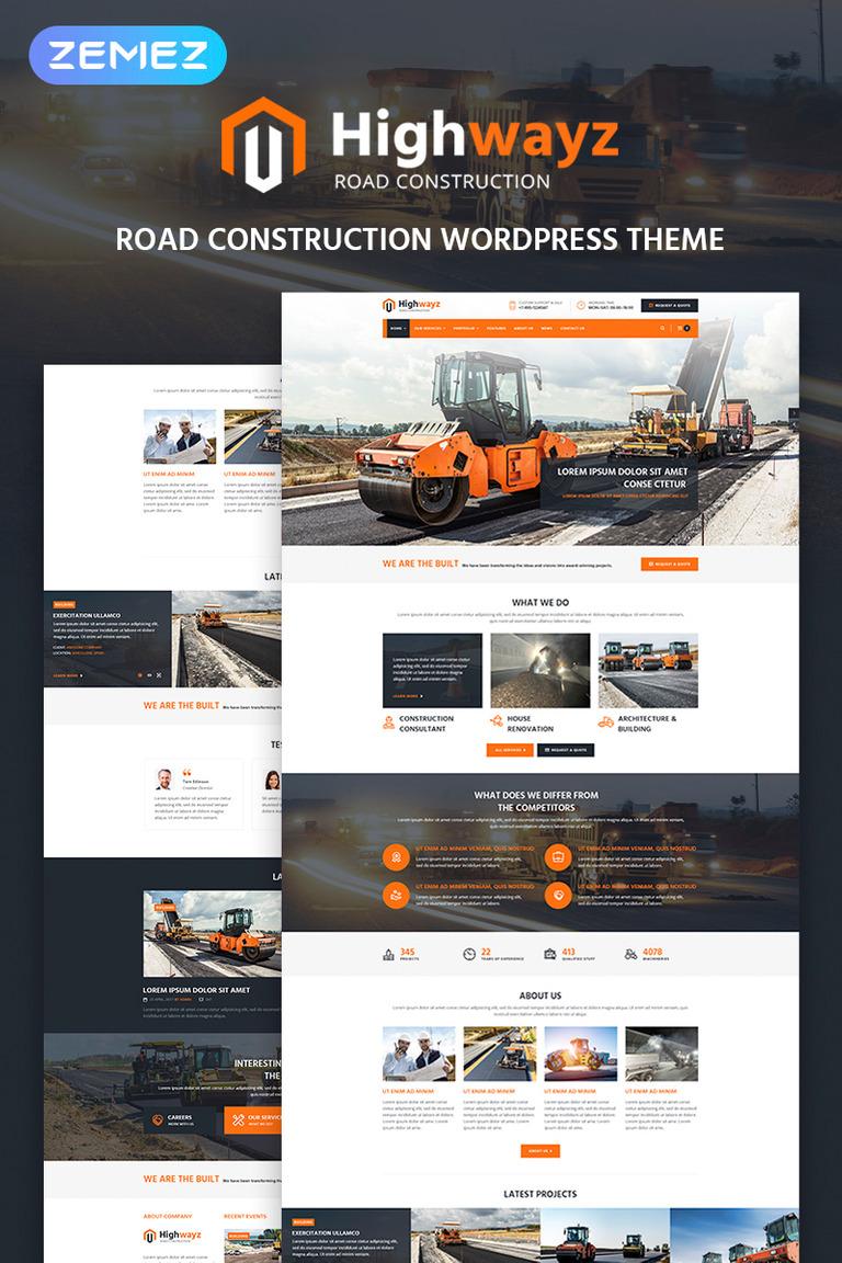 Highwayz - Road Construction WordPress Theme #67630