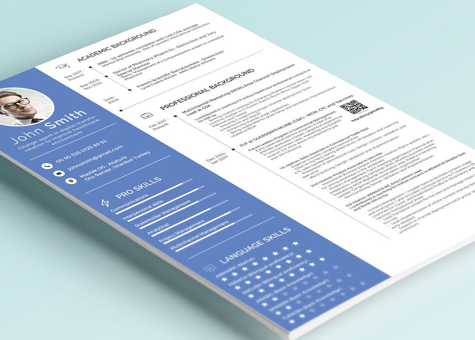 Lebenslauf-Vorlage #67682 für Jobportals