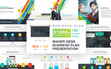 Maher - Desk Business Plan PowerPoint Template