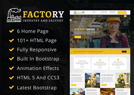 Factory : Factory & Industrial HTML