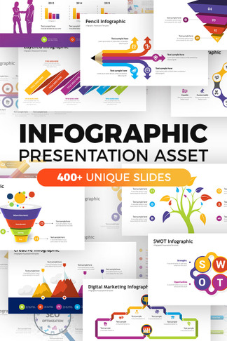 infographic pack presentation asset powerpoint template