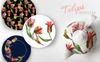 Colorful Tulips PNG Watercolor Set Bundle Big Screenshot