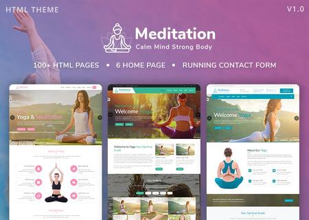 Meditation - Yoga, Fitness & Meditation Mobile Responsive Bootstrap HTML