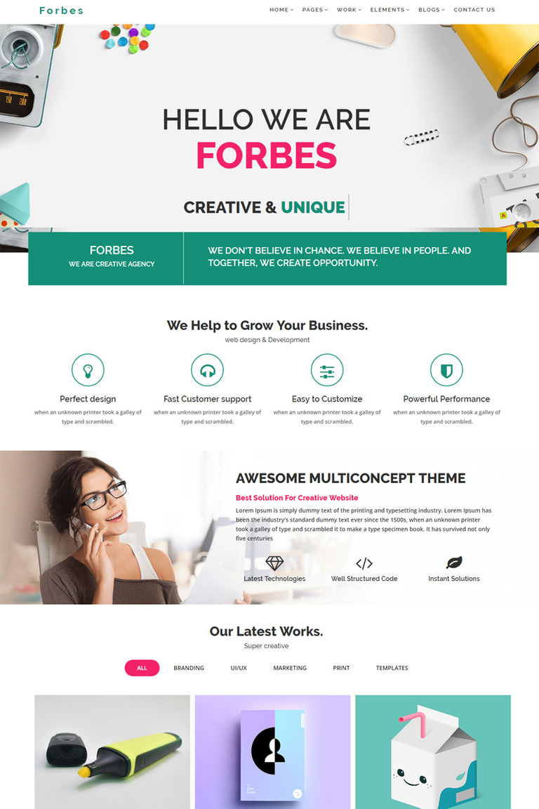 Forbes Multipurpose Html5 Website Template 67923
