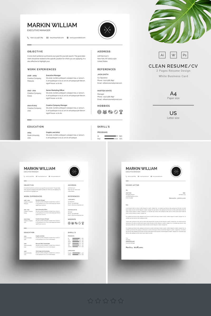 Markin William Minimal Resume Template  67728