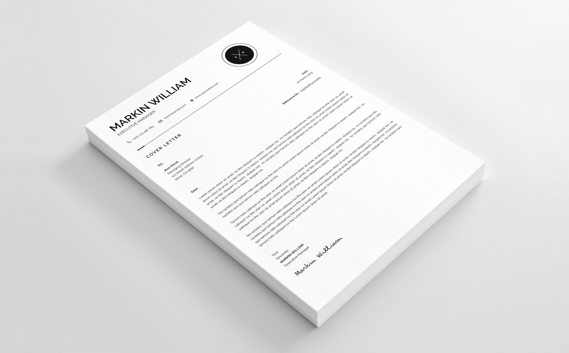 Markin William Minimal Resume Template #67728