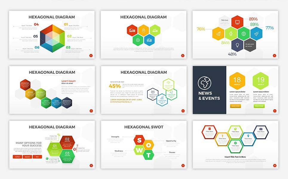 Hexagonal Powerpoint Template 67896