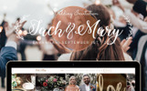 Industrial Metallic Wedding - Landing Page Template