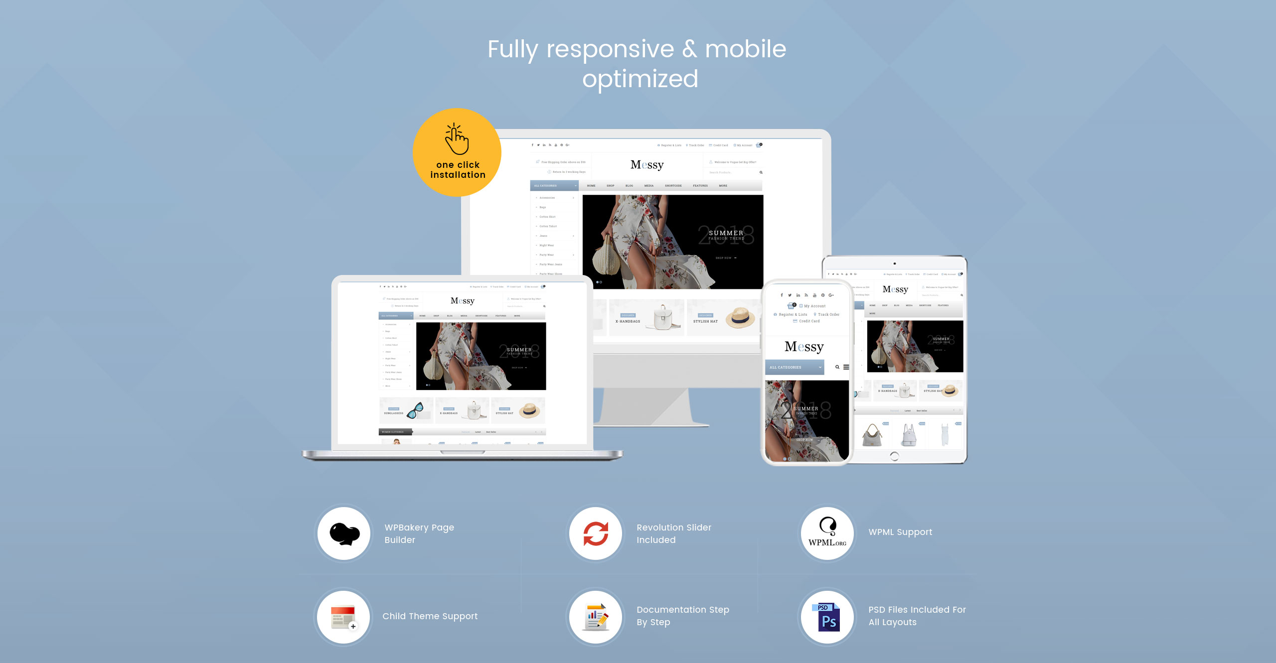 Messy - Multipurpose Fashion Store WooCommerce Theme