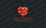 Ribbon & Heart Lock Logo Template