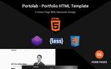 PortoLab - Personal Portfolio Landing Page Template