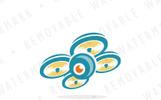 Spy Drone Logo Template