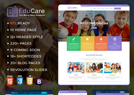 EduCare  -  Education  With RTL Ready