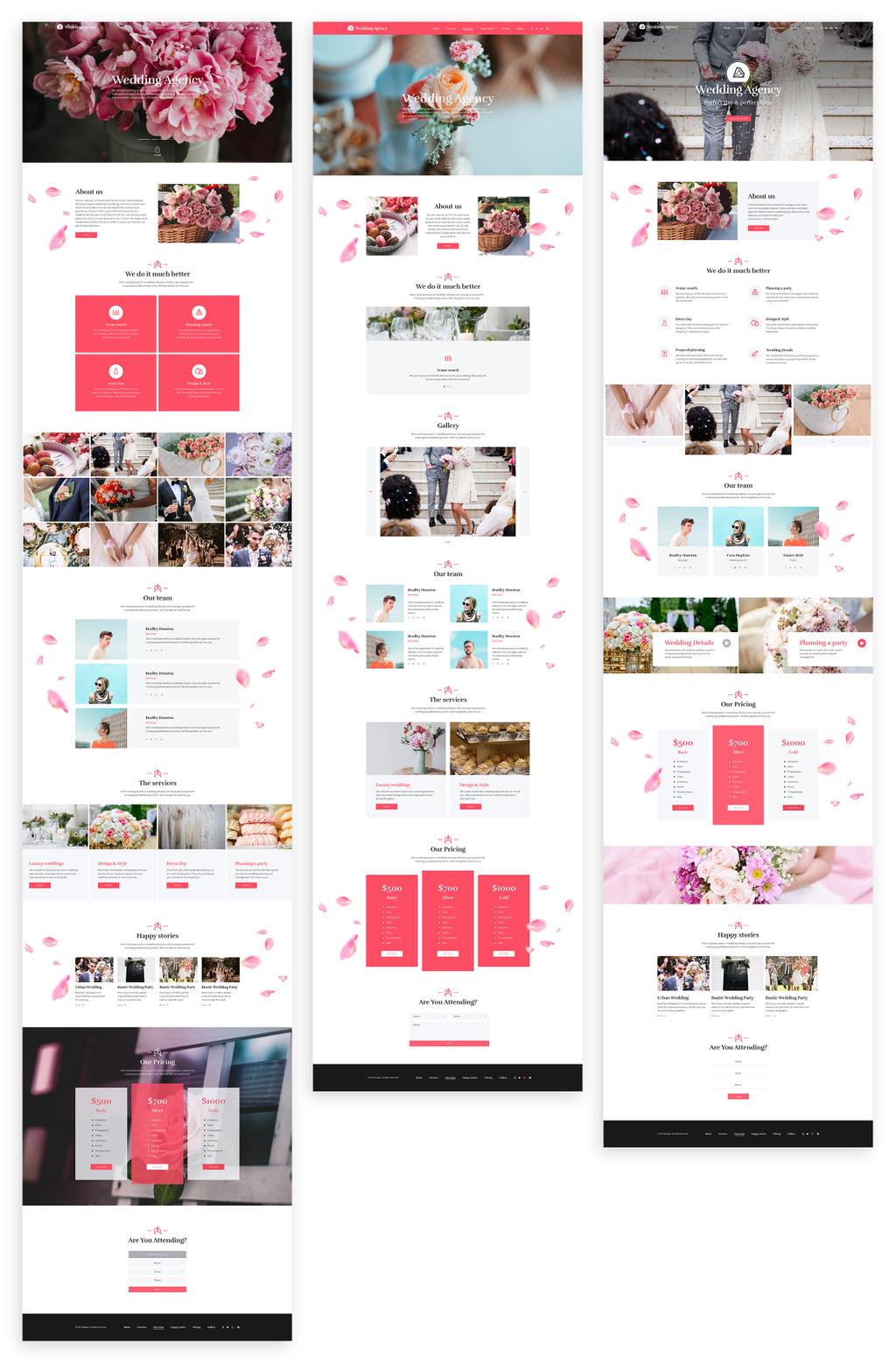 Honeymoon - Wedding Agency HTML Landing Page Template #68332