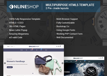 Onlineshop - Responsive Multipurpose E-Commerce HTML5