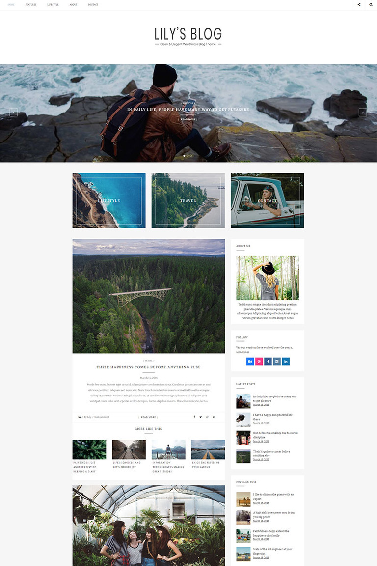 e5de6d5f0344f0 Lily - Clean & Elegant Blog WordPress Theme Big Screenshot