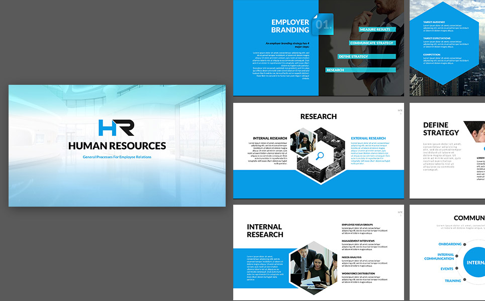 Hr process powerpoint template 64735 hr process powerpoint presentation template big screenshot maxwellsz