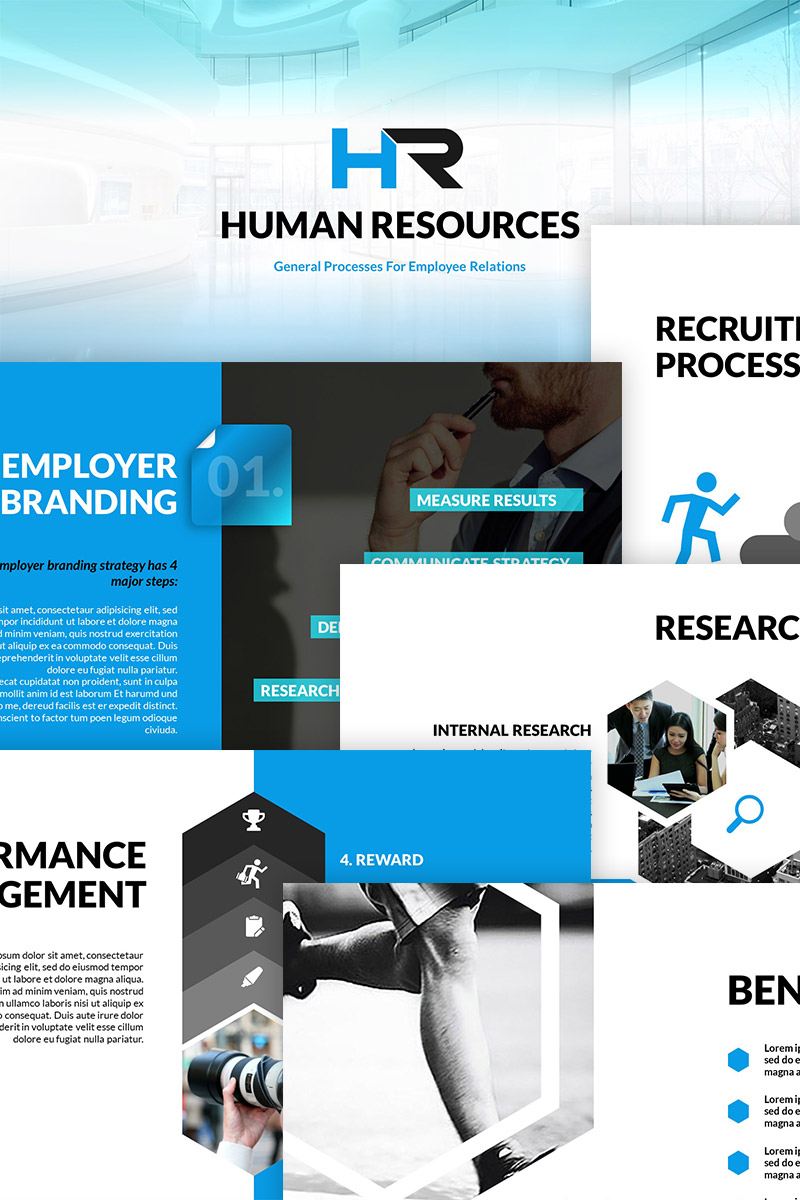 Hr process powerpoint template 64735 maxwellsz