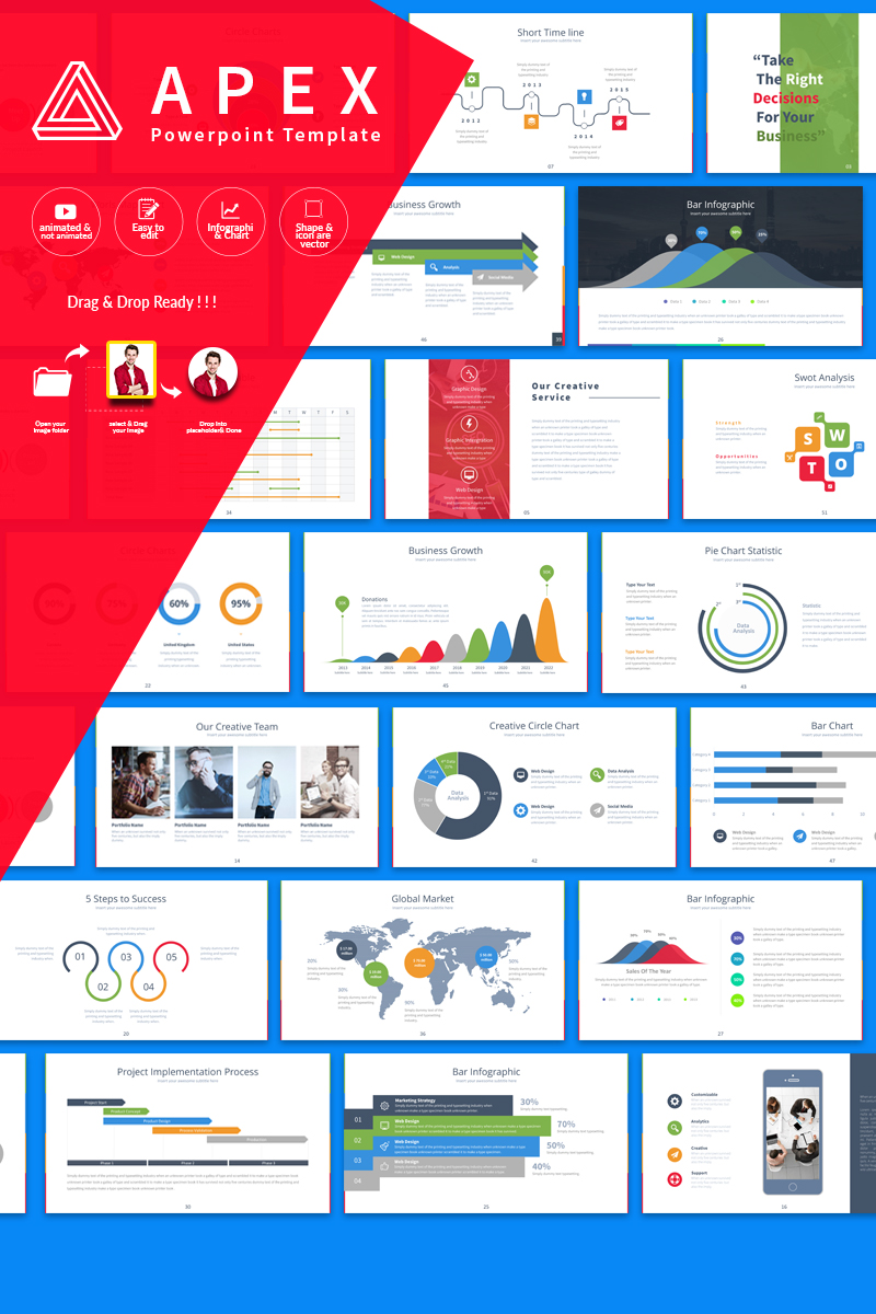 Apex Presentation Powerpoint Template  64792