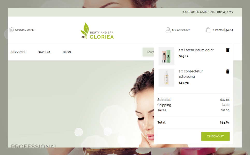 Gloriea Spa & Beauty PrestaShop Theme