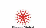 Flower Digital Logo Template