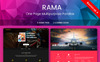 """Responzivní Šablona mikrostránek """"RAMA - One Page Multipurpose Parallax"""" Velký screenshot"""