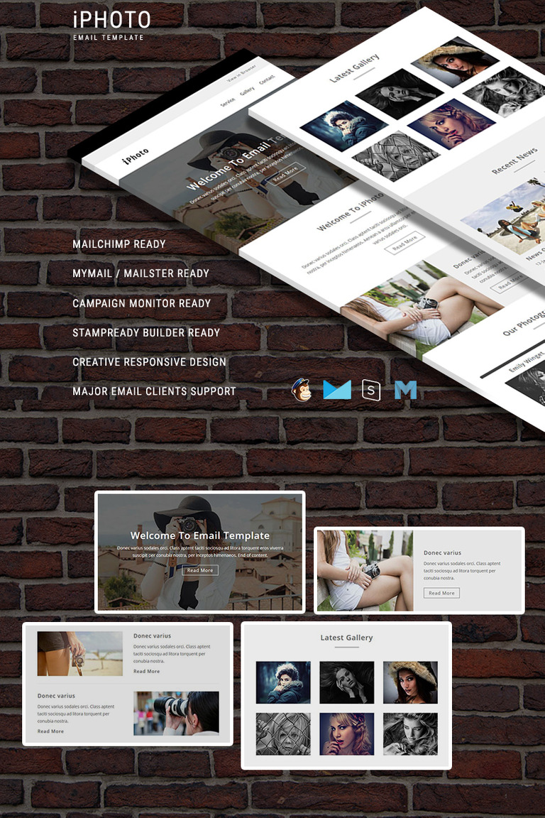 iPhoto - Responsive Email Template Newsletter Template #64734