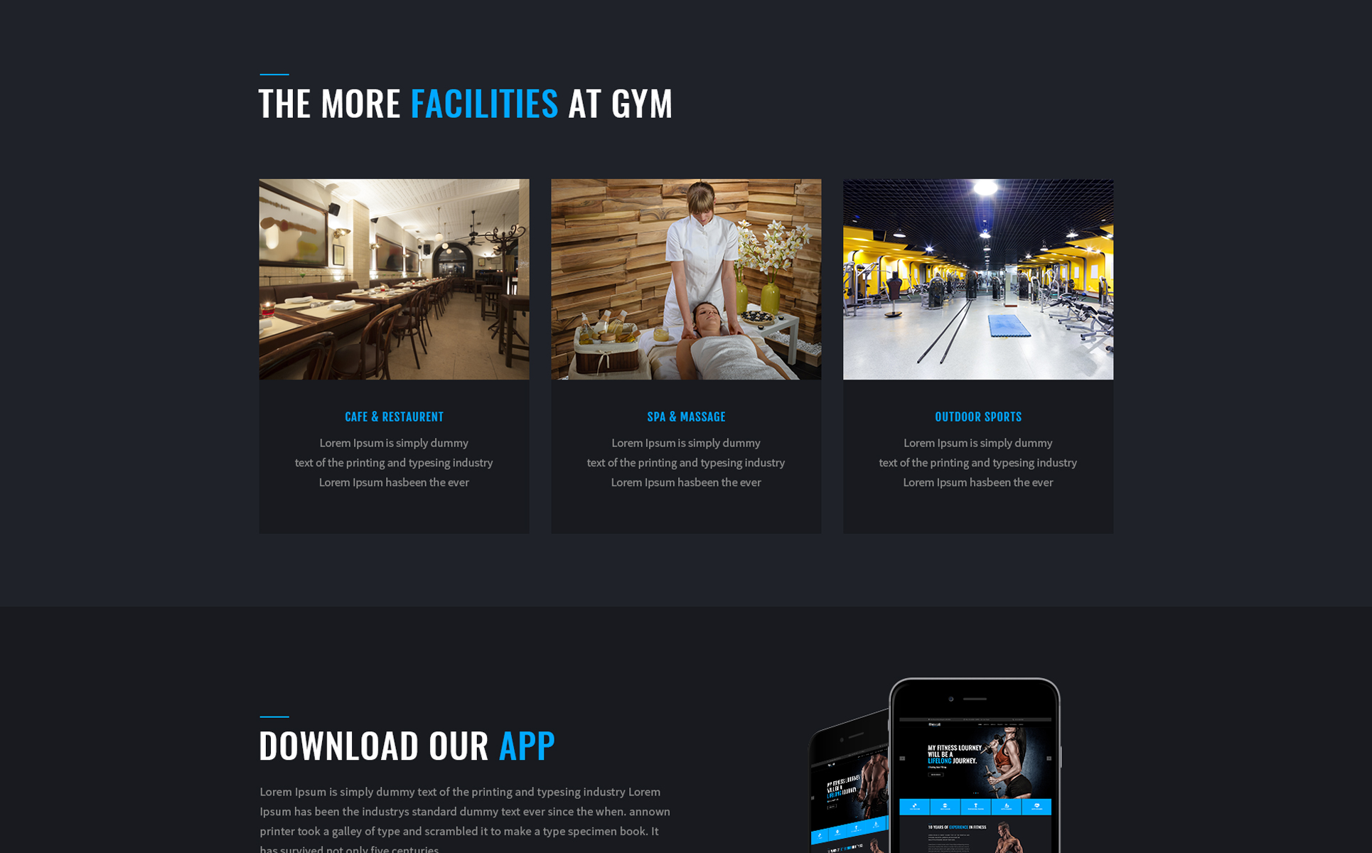 Fitness Club Landing Page Template #68527