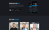 Fitness Club Landing Page Template