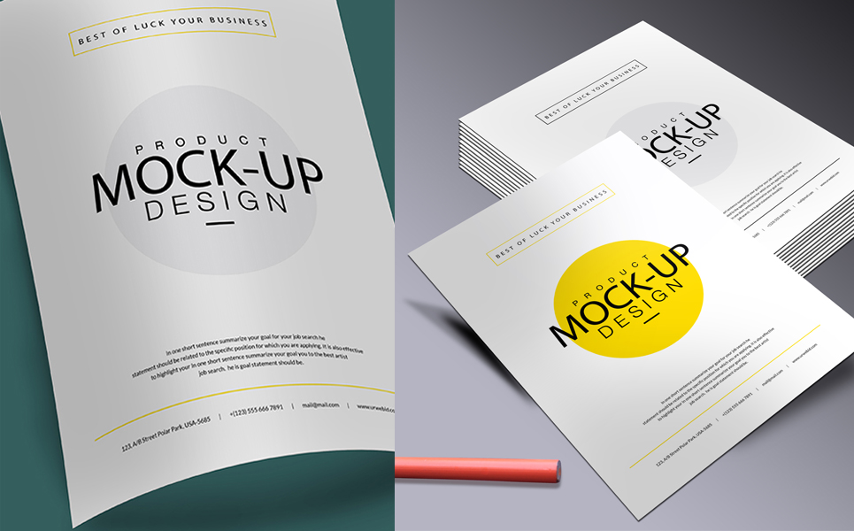 A4 Business Flyer Mock Up Product Mockup 68139