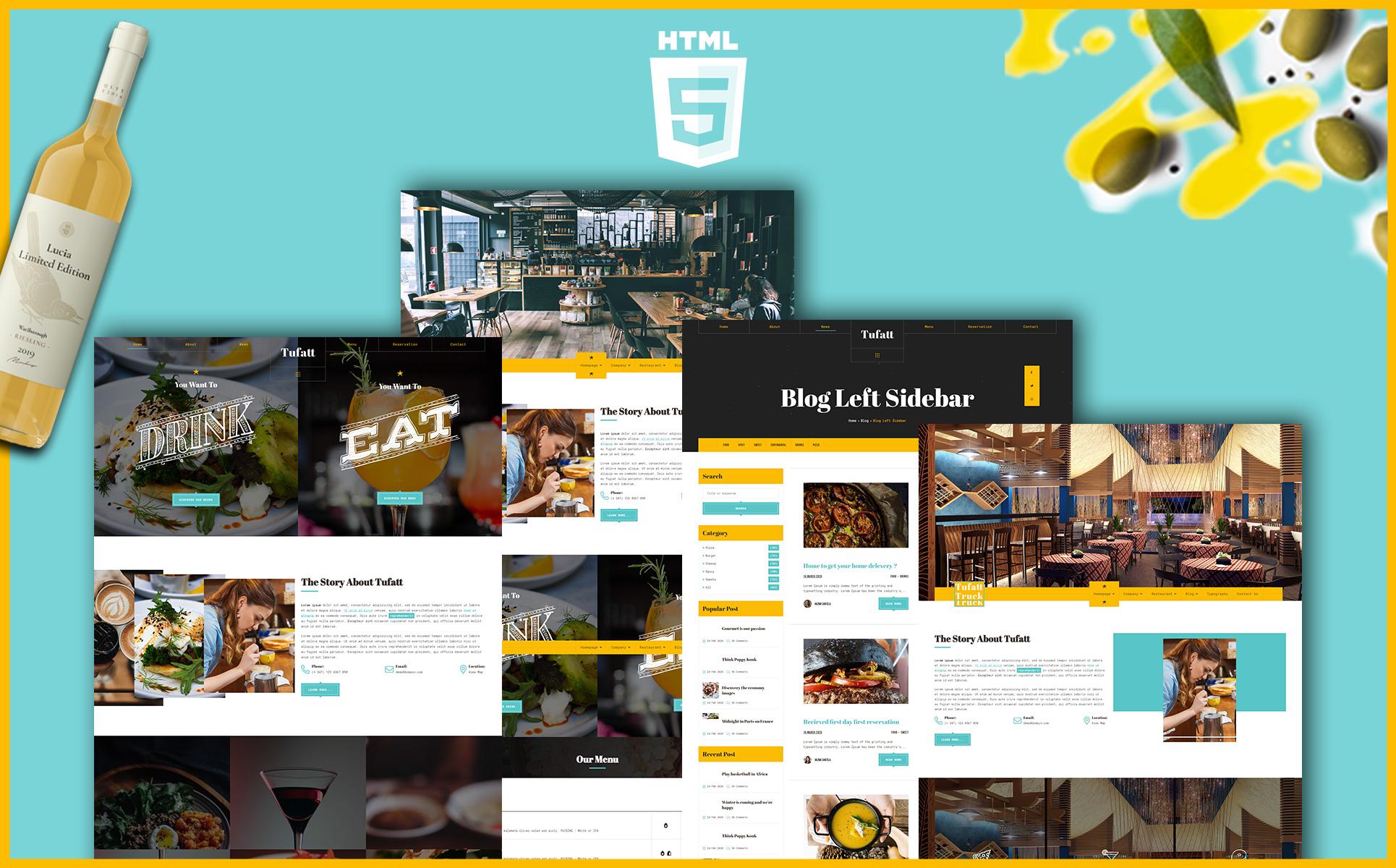 Tufatt   Restaurant  & Food Blog WordPress Theme
