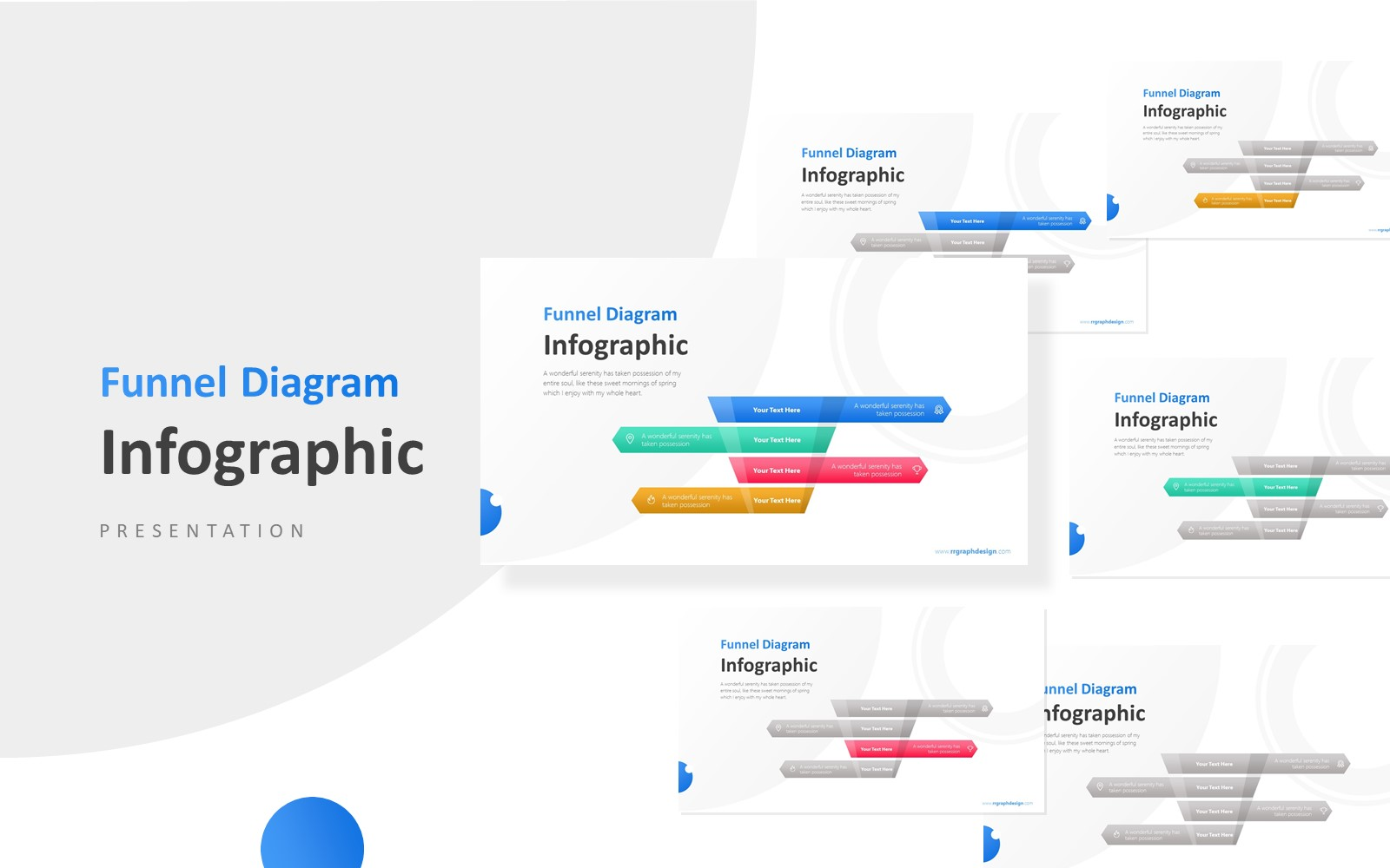 4 Levels Funnel For Sales Infographic Presentation PowerPoint Template