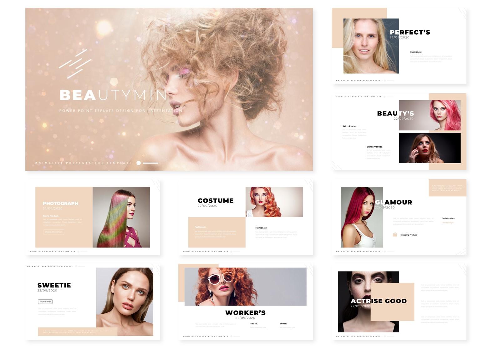 Beautymin   PowerPoint Template