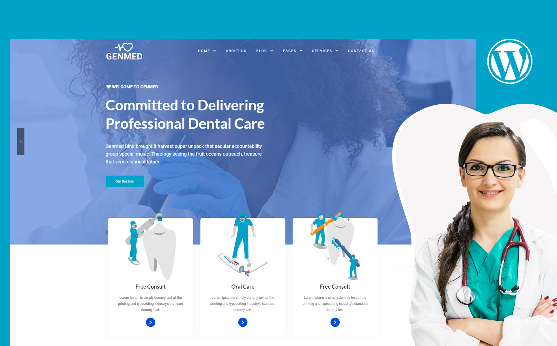 Genmed | Multipurpose Medical WordPress Theme