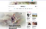 Impleo - Magazine & News Homepage PSD Template